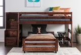 Sedona Junior Loft Bed With Twin Caster Bed & Junior Stair Chest - Room
