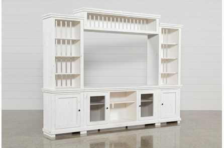 Sinclair White 4 Piece Entertainment Center - Main