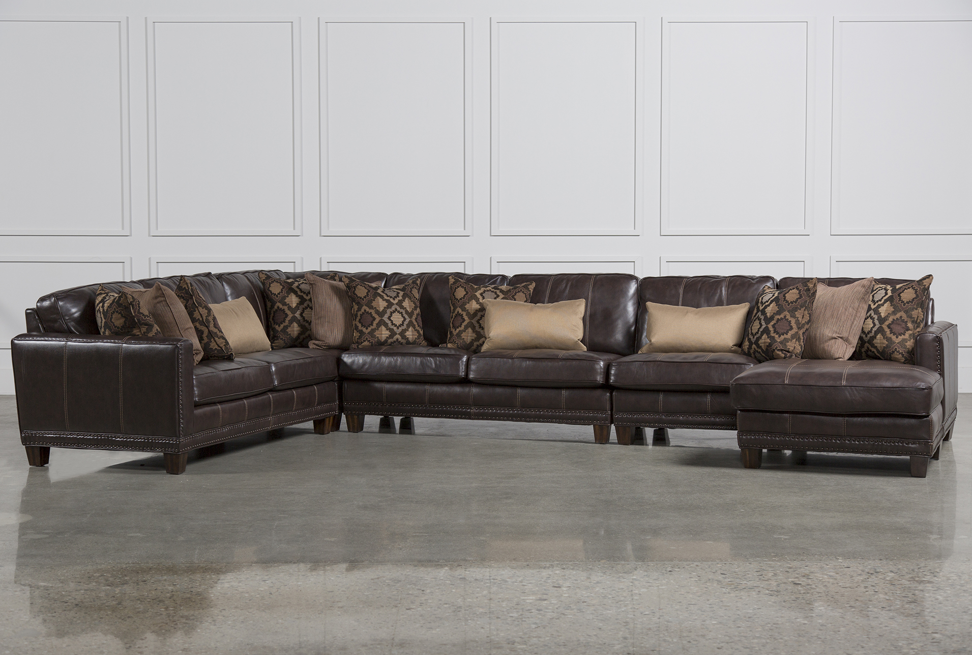 Barnaby 5 Piece Sectional WRaf Chaise Living Spaces