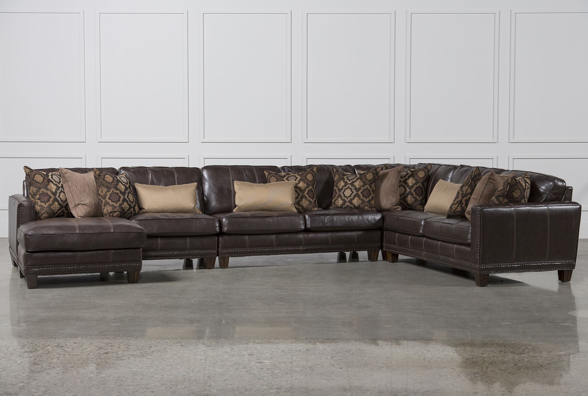 Barnaby 5 Piece Sectional WLaf Chaise Living Spaces