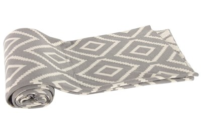 Accent Throw-Grey Diamond Knit