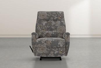 Rogan II Granite Fabric Rocker Recliner