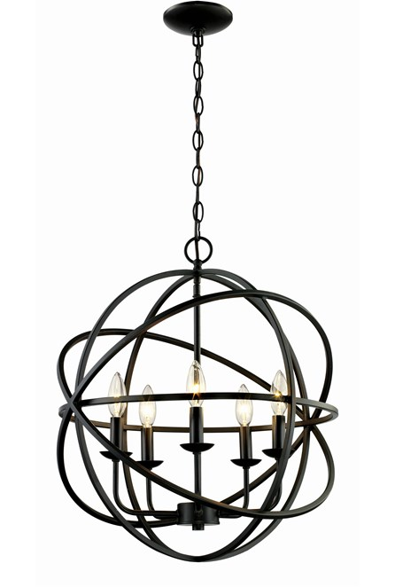 Chandelier-Rosilyn Bronze 5-Light