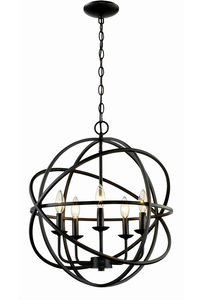 Chandelier-Rosilyn Bronze 5-Light - 360