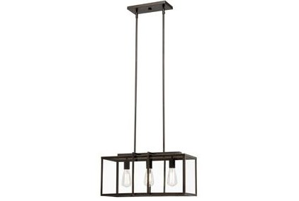 Pendant-Cabot Bronze Rectangle