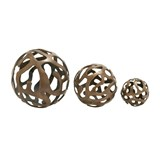 3 Piece Set Aluminum Decor Balls - Signature
