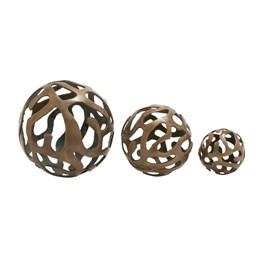 3 Piece Set Aluminum Decor Balls