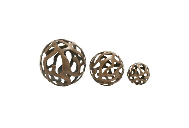 3 Piece Set Aluminum Decor Balls - 360