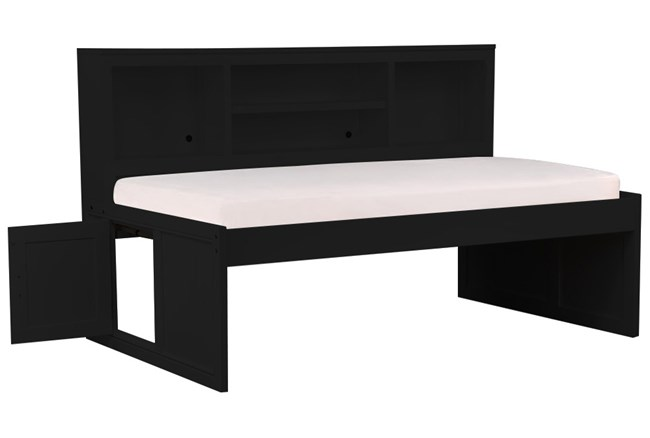 Kendall Black Twin Roomsaver Bed With No Storage - 360