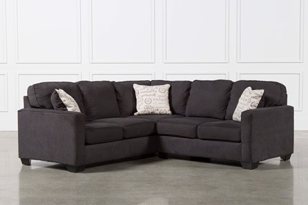 Alenya Charcoal 2 Piece Sectional W/Raf Loveseat