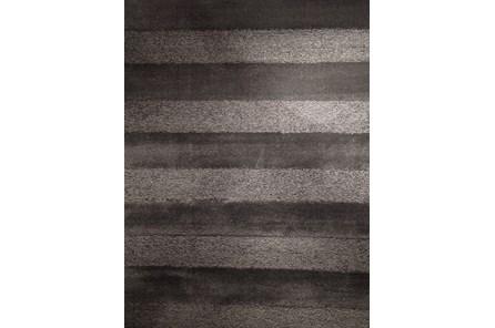 93X126 Rug-Charcoal Stripe Shag - Main