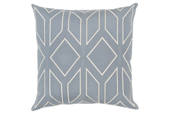 Accent Pillow-Nora Dusty Blue 18X18 - 360