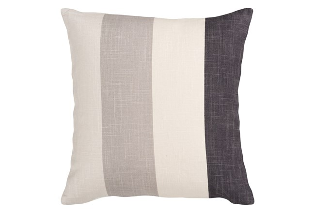 Accent Pillow-Maisie Black/Grey Stripe 22X22 - 360