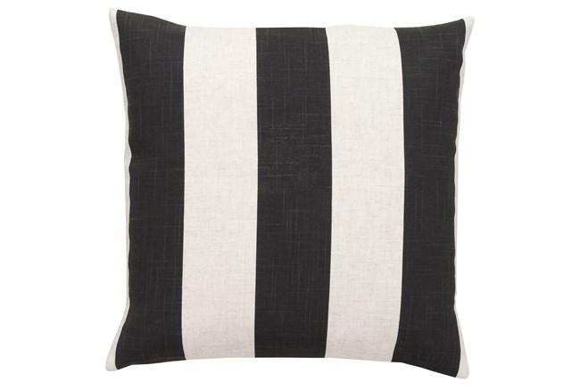 Accent Pillow-Maisie Black/White Stripe 22X22 - 360