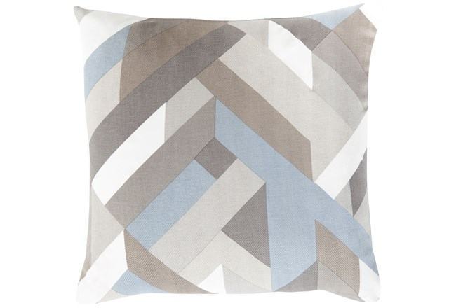 Accent Pillow-Seraphina Blue Woven Geo - 360
