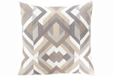 Accent Pillow-Seraphina Grey Woven Geo - Signature