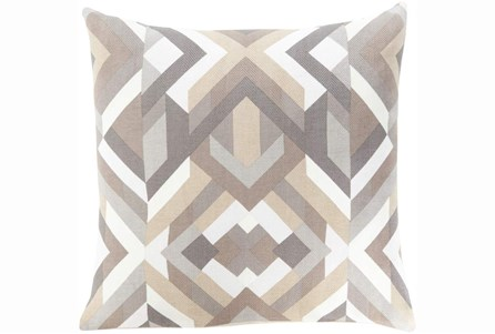 Accent Pillow-Seraphina Grey Woven Geo - Main