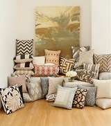 Accent Pillow-Seraphina Grey Woven Geo - Room