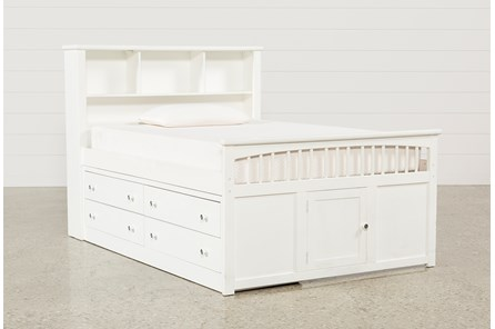 Bayfront Full Captains Bed With Double 4-Drawer Unit - Main