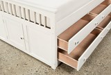 Bayfront Full Captains Bed With Double 4-Drawer Unit - Top