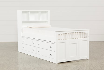 Bayfront Twin Captains Bed With Double 4-Drawer Unit