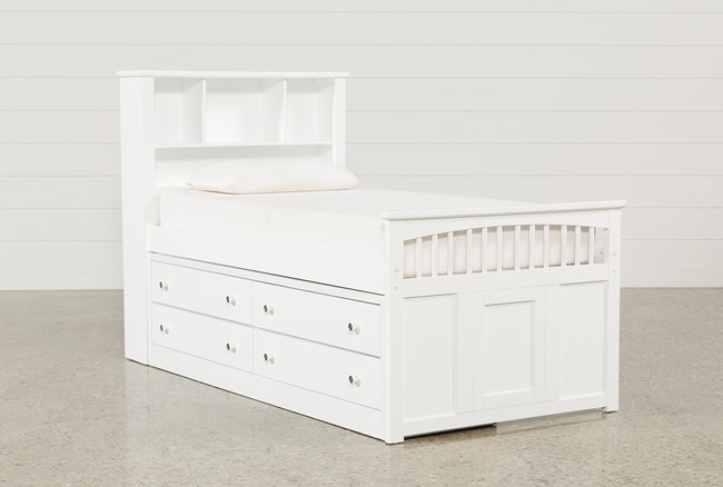 Bayfront Twin Captains Bed With Double 4-Drawer Unit - 360