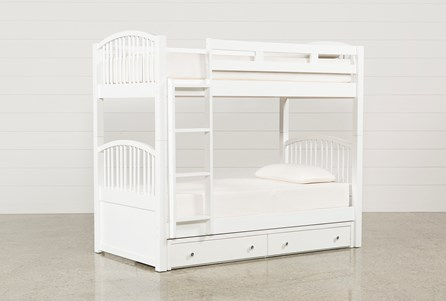 Bayfront Twin Over Twin Bunk Bed With 2 Drawer Storage Unit