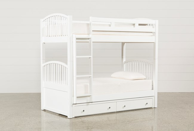 Bayfront Twin Over Twin Bunk Bed With 2-Drawer Storage Unit - 360