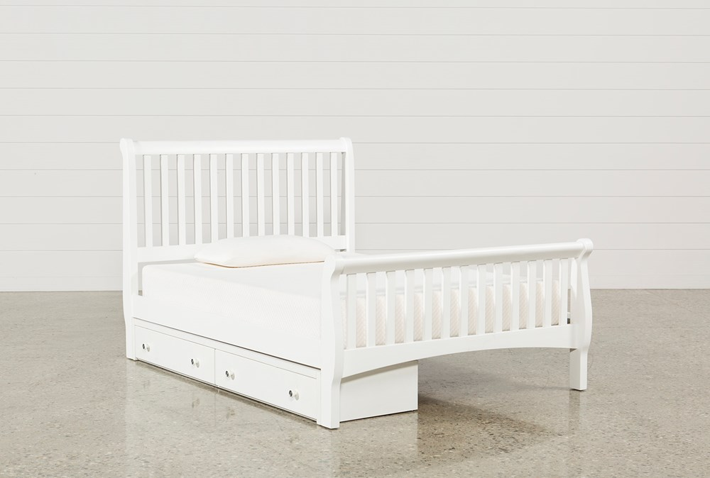 Bayfront Full Sleigh Bed With Single 2-Drawer Storage Unit