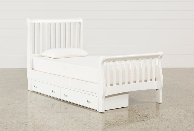 Bayfront Twin Sleigh Bed With Single 2-Drawer Storage