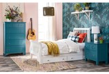 Bayfront Twin Sleigh Bed With Single 2-Drawer Storage Unit - Room