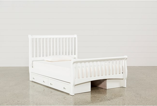 Bayfront Full Sleigh Bed With Double 2-Drawer Storage Unit - 360