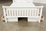 Bayfront Full Sleigh Bed With Double 2-Drawer Storage Unit - Back