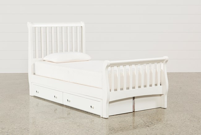 Bayfront Twin Sleigh Bed With Double 2-Drawer Storage Unit - 360
