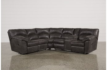 Tambo Pewter 2 Piece Reclining Sectional