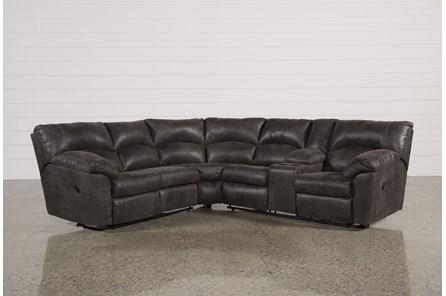Tambo Pewter 2 Piece Reclining Sectional - Main