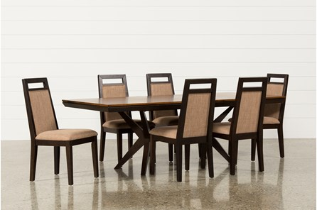 Spencer 7 Piece Rectangle Dining Set W/Uph Chair - Main