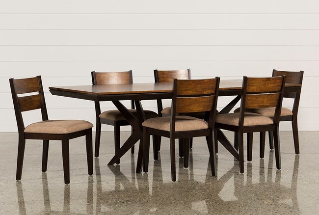 Spencer 7 Piece Rectangle Dining Set W/Wood Chairs - 360