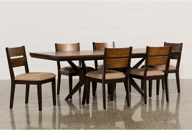 Spencer 7 Piece Rectangle Dining Set W/Wood Chairs | Living Spaces