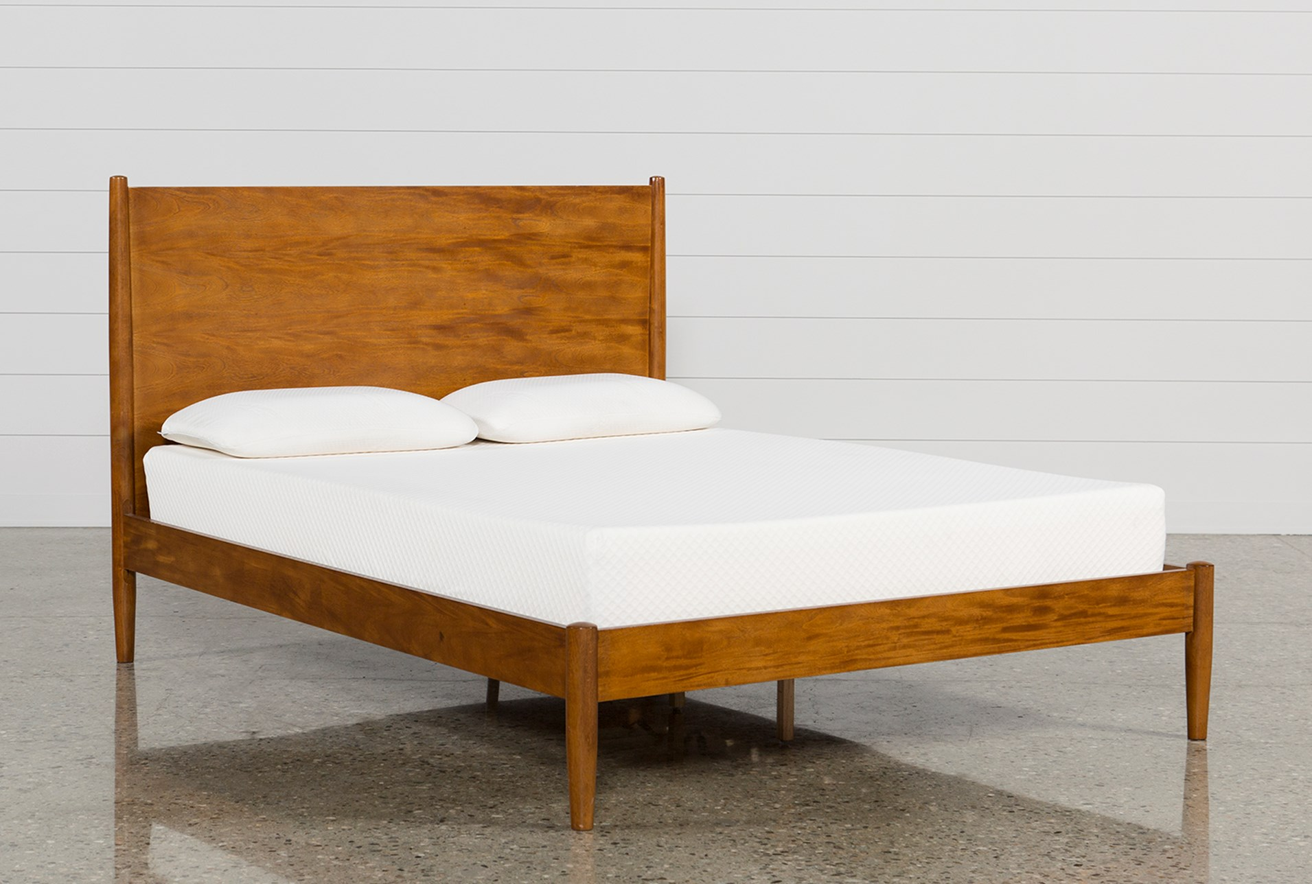 Alton Cherry California King Platform Bed | Living Spaces
