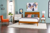 Alton Cherry Queen Platform Bed - Room