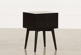Alton Black Night Table