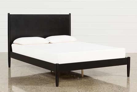 Alton Black Queen Platform Bed