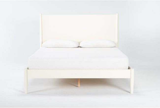 Alton Ecru Full Platform Bed - 360
