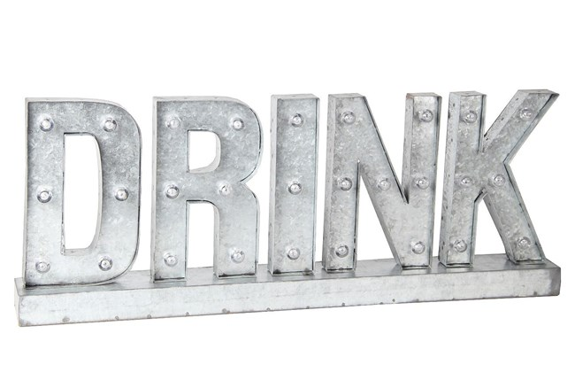 Metal Word Display-Drink - 360