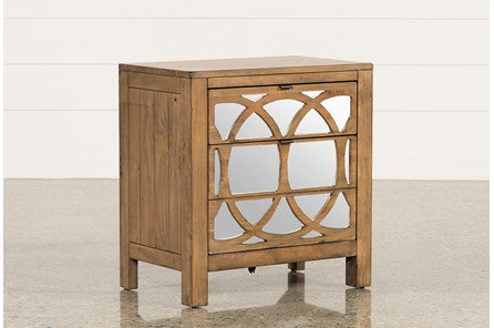 Brooke Mirrored Nightstand - Main