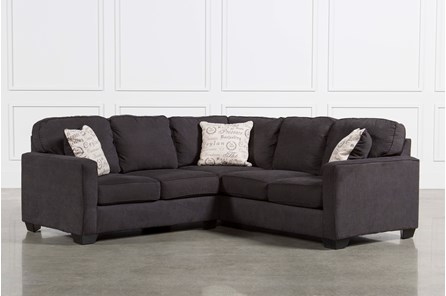 Alenya Charcoal 3 Piece Sectional W Raf Loveseat Living