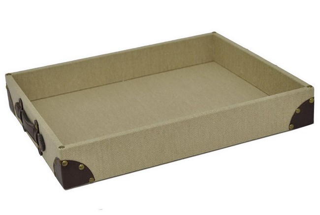 Linen & Leather Tray - 360