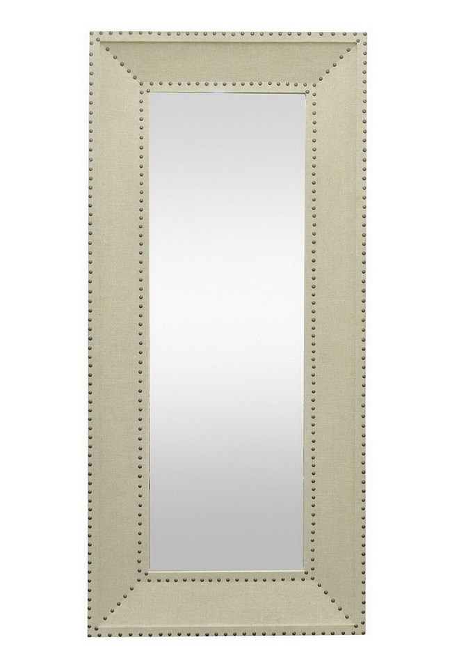 Leaner Mirror-Teague Linen 31X71 - 360