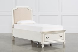 Emily Twin Upholstered Storage Bed
